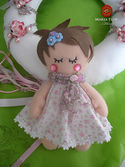POrta maternidade da Cecilia (mariafloratelier2) Tags: baby vintage heart coração dools dool lavand portamaternidade feltdool