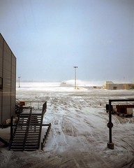 After the snow storm(2) (Philippe Yong) Tags: snow storm 120 mamiya film analog mediumformat airport montreal neige dorval aroport mamiya7ii moyenformat poudrerie 7ii lowdynamicrange mamiyadorval philippeyong wwwpyphotographyfr