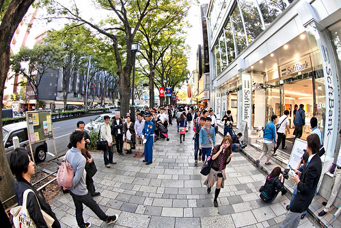 iPhone 4S Pre-Order Line at Softbank Omotesando