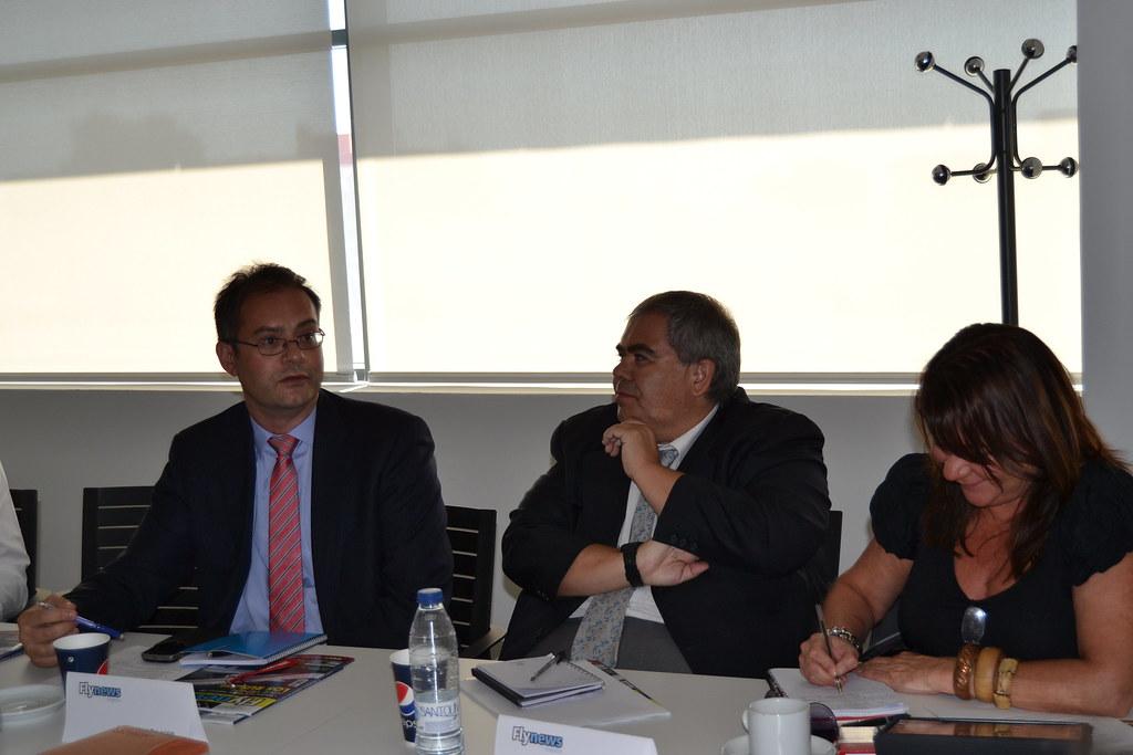 Luís Calvo en un reciente desayuno de prensa