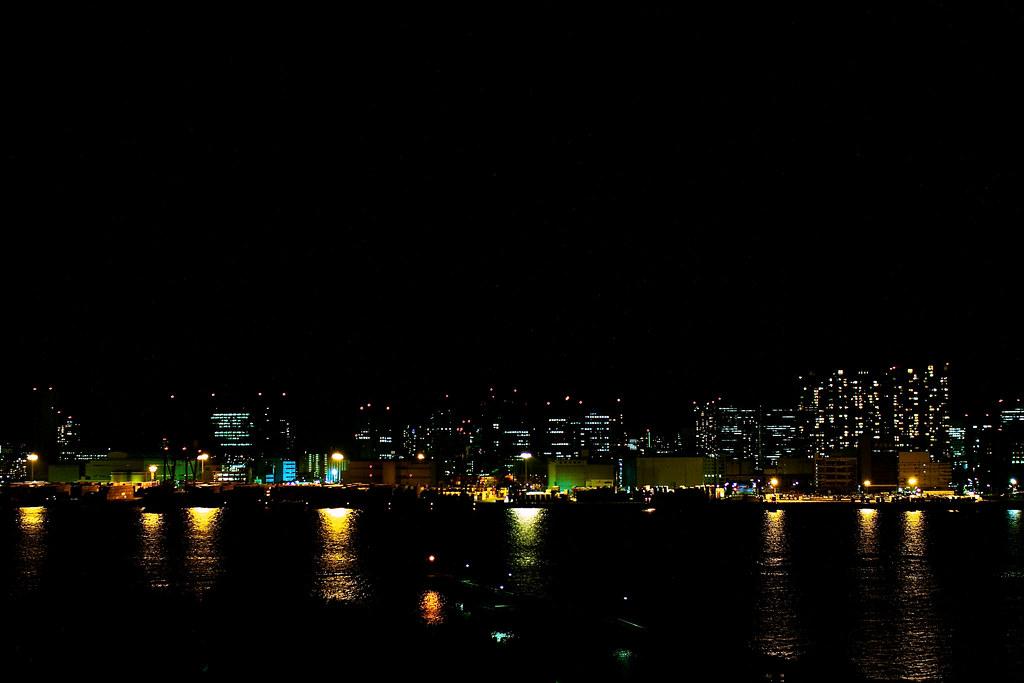 Tokyo Bay at night