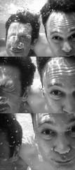 """Friends"" (""Amigos"") (Domonte Design) Tags: friends portrait blackandwhite bw white black amigos blancoynegro blanco water pool monochrome branco canon monocromo agua aqua eau wasser noir underwater noiretblanc retrato mosaic negro mosaico piscina bn powershot alfredo amics amis javi amici acqua laug weiss bianco blanc freunde schwarz aigua negre biancoenero venner waterproof piscine  biot auga unterwasser d10 submersible sousmarine brancoenegro sumergible subacuatico weissundschwarz domonte"