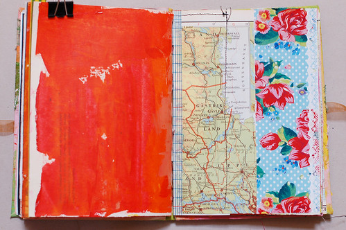 Journal of Scraps I: red rose