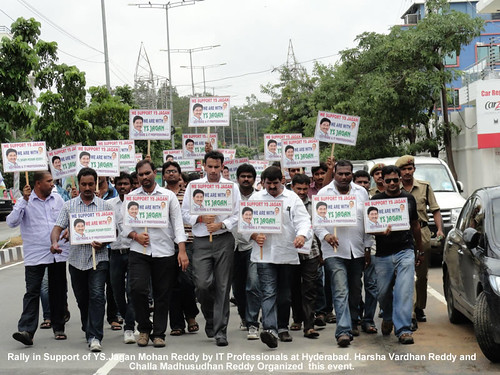 IT Professional Rally in Support of YS Jagan at Hyderabad
