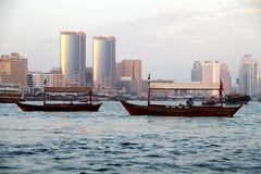 Dubai Creek (photographerglen) Tags: city travel cruise canon boat dubai desert muslim middleeast arabic abra dubaicreek sail arabian unitedarabemirates dubaidesert travelphotography uai arabianpeninsula photographerglen olddubaicreek