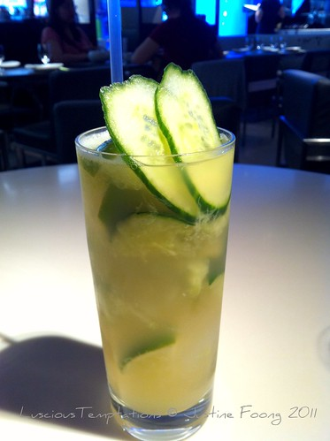 Cucumber and Lime Ice Tea - Yauatcha, Soho
