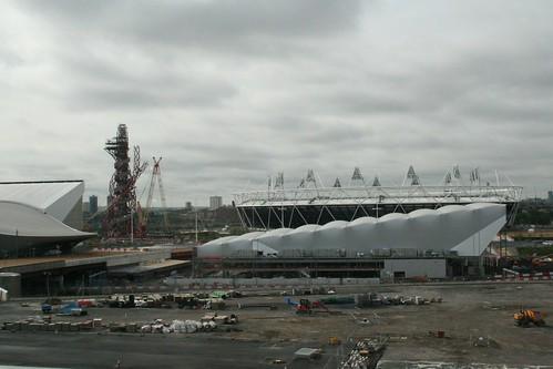 Stadium, tower and arena.