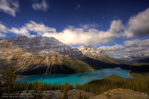 Banff - Peyto Lake, Mount Caldron, Mount Paterson