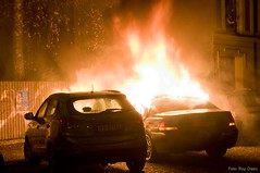 Bilbrann i natten (Roolpix) Tags: brann eksplosjon bilbrann