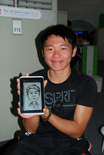 digital caricature live sketching on HTC Flyer for HTC Weekend - Day 2 - 43