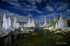 Ghosts of Mono Lake (Darvin Atkeson) Tags: california statepark longexposure sculpture mountain lake reflection nature strange rock night stars landscape mono desert nevada sierra formation yosemite monolake range tufa highsierra starlight easternsierra darvin atkeson darv liquidmoonlightcom