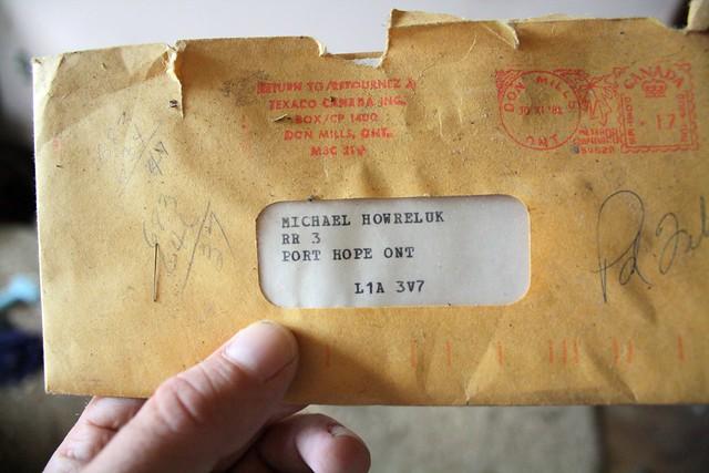 Michael Howreluk's Michael Howreluk's 1982 Texaco bill -PAID