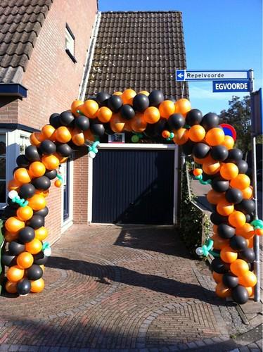 Ballonboog 7m Halloween Oranje Zwart