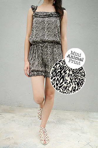 30_Mini Animal Print Jumpsuit Shorts