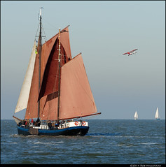 Encounter (Rob Millenaar) Tags: holland waddenzee scenery sailing sail sailingships noordvaarder brandarisrace bruinevloot