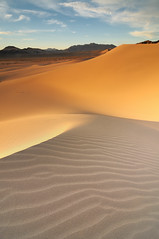 The Bigger Picture (Explore #5 - Thanks!) (Joshua Cripps) Tags: sunset sunlight mountains nationalpark sand nikon desert patterns deathvalley couds sanddunes acratech leefilters ibexdunes
