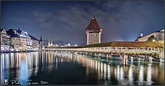 Suiza - Pueblos con encanto - Lucerna  - Kapellbrcke (www.pedroferrer.com) Tags: bridge lake alps reflection rio night alpes canon river puente lago photography eos lights schweiz switzerland see luces photographer suisse suiza luzern lac paisaje medieval nocturna svizzera brcke fotgrafo lucerna reflejos lucern fotografa kapellbrcke reuss alpino 50d eos50d canoneos50d bernoberland fieraz pedroferrer httppedroferrerfotografiablogspotcom pedroferrerfotografia oberlandbernes httpwwwpedroferrercom pedroferrercom