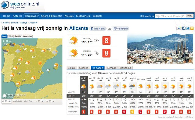 Vakantieweer in Alicante - Winterzon!