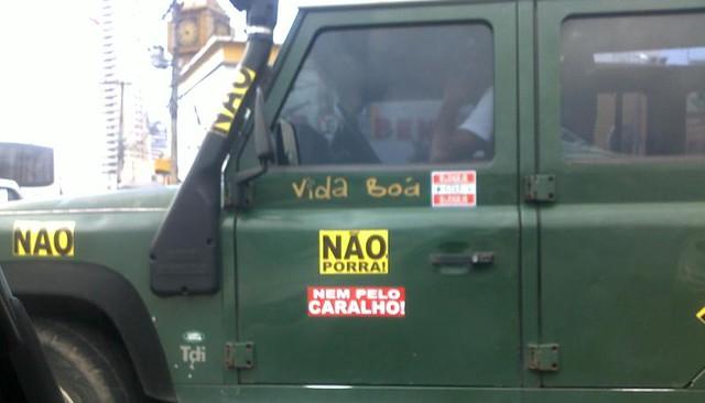 A agressiva campanha do Não em Belém. Foto: Kleber Serique