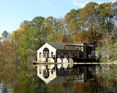 Old Pump House, Columbia Lake Dam, Warren County, New Jersey (jag9889) Tags: house lake fall river newjersey kill dam nj columbia foliage pump kayaking 2011 paulinskill warrencounty paulins y2011 jag9889