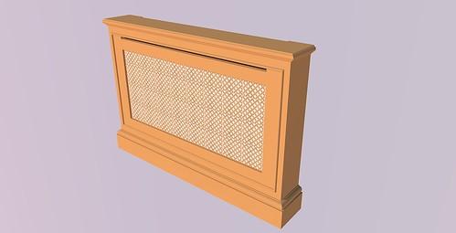 Oak radiator cabinet