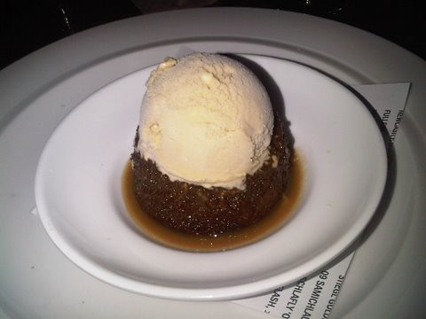 Againn's sticky toffee pudding was the perfect pairing with Johnny Walker's Blue Label.
