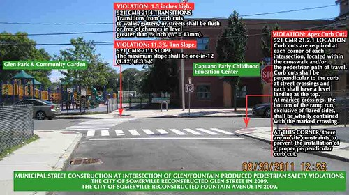 Somerville, MA:  Cross St/Fountain Avenue safety and access violations