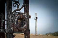Project Flickr - Week 43 - Eerie (xTexAnne) Tags: arizona cemetery gate cross tucson lock eerie projectflickr d7000 nikond7000 diannewhite