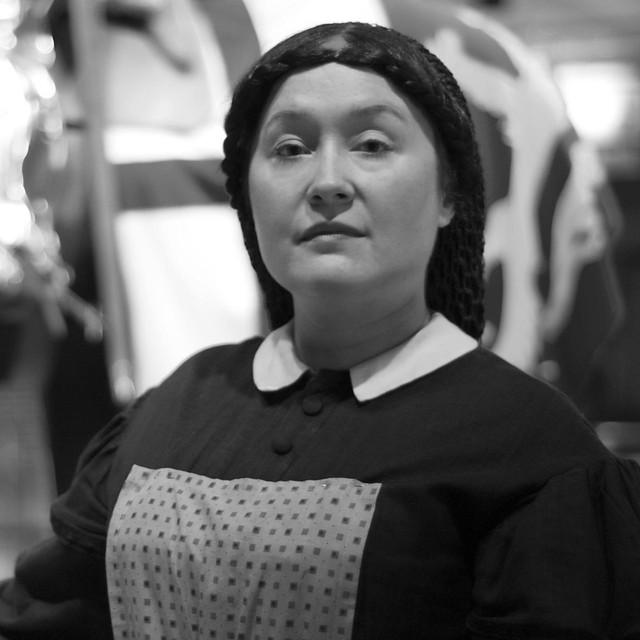 Zoe (in costume/character) - Frazier Museum