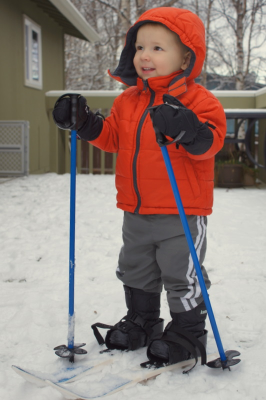 yay for toddler skis!