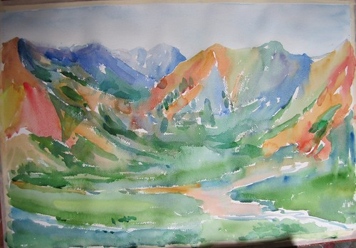 19 Polychromos View, Denali, Alaska by luv2draw