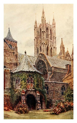 011-Canterbury baptisterio y sala capitular- Cathedral cities of England 1908- William Wiehe Collins