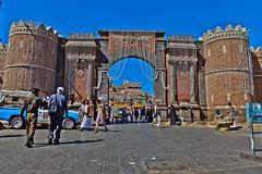 port Bab Al Yemen, the entrance to the historic city center, yemen (anthony pappone photography) Tags: canon arab arabia yemen sanaa oldsanaa arabiafelix mediorient