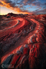 Red Dragon (Zack Schnepf) Tags: sunset red arizona mars lines rock sunrise landscape utah sandstone bravo surreal curvy curve zack twisted leading martian scurve coyotebuttes schnepf whitepocket