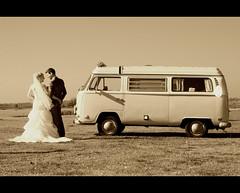 Couple and VW (Focusje (tammostrijker.photodeck.com)) Tags: iris wedding vw volkswagen groom bride couple day van transporter henk huwelijk busje bruiloft bruidspaar bruid bruidegom