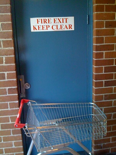 Shopping for trouble, trolleys & fire exits don't mix
