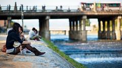 At the Riverside (JoMiHo) Tags: japan kyoto gion nikond700 nikkoraf85mmf14