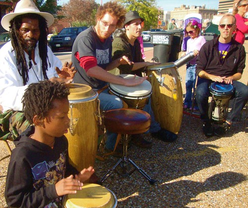 Shreveport Community Drum Circle / Maker's Fair / Shreveport / Nov '11 by trudeau