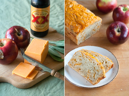 Apple, Beer and Cheddar Quickbread
