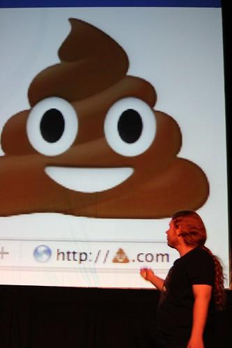 Poop can't be used as URL