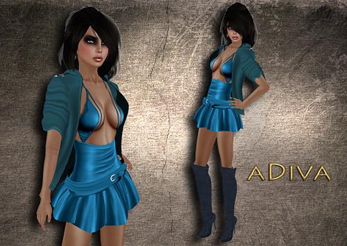 aDiva couture Mila Petrol