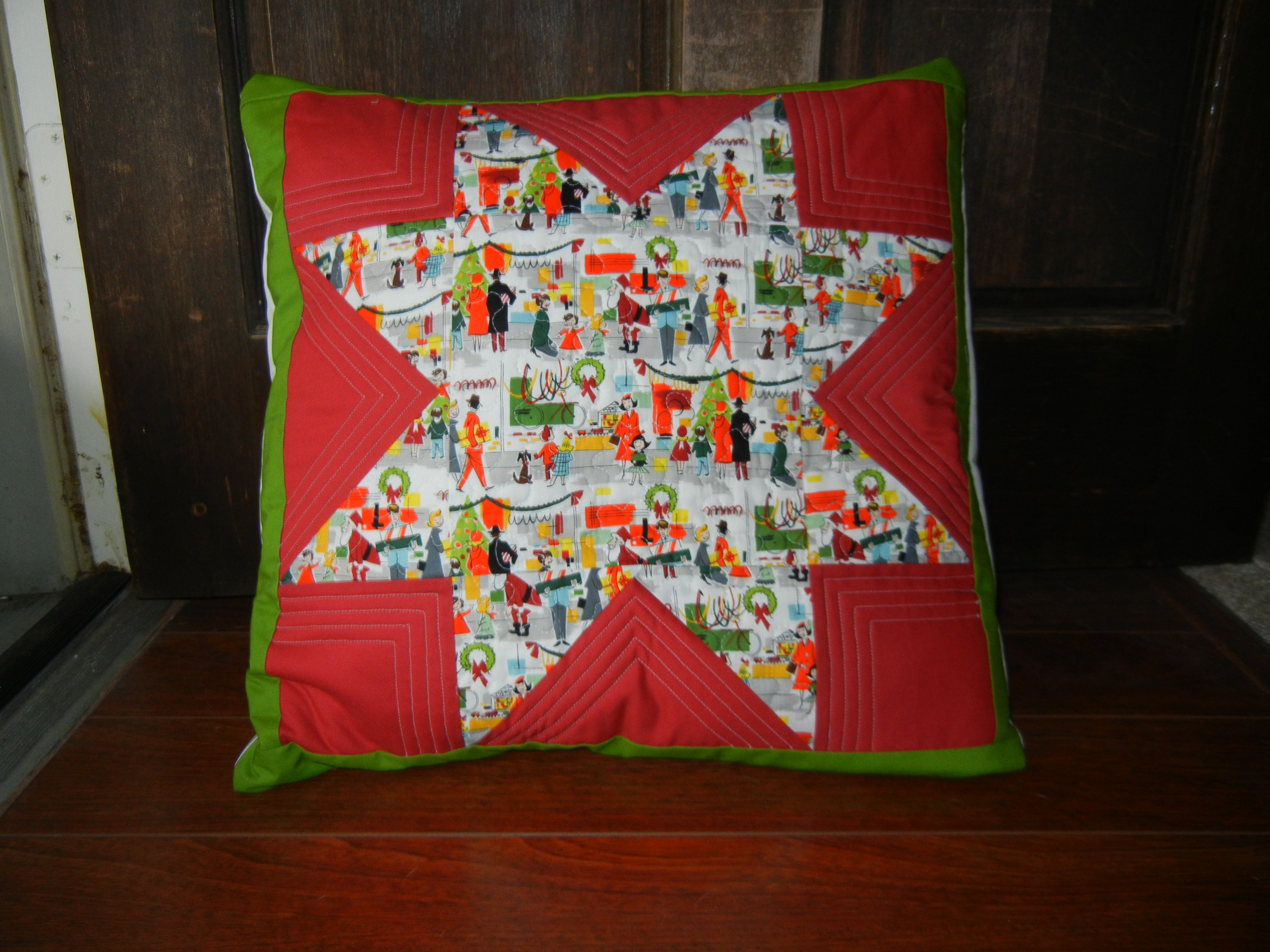 Holiday star pillow