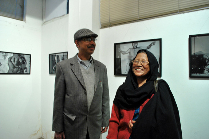 The OPENING: Nirman Shrestha' s parents. Photo: Uma Bista