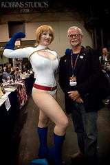 Paul Kupperberg and Power Girl (BelleChere) Tags: comics dc costume cosplay writer friday marvel comiccon powergirl nycc msmarvel paulkupperberg
