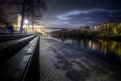 835/1000 - Queen's Park Bridge and The River Dee by Mark Carline