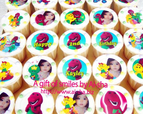 Birthday Cupcakes Edible Image Barney