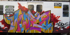Nicer (tatscruinc) Tags: streetart newyork graffiti bronx bio burners nicer tatscru huntspoint bg183 totem2 themuralkings johncrashmatos nycsubwaycarreplica