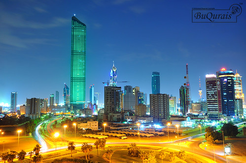 Al Hamra Tower Green Light 11/11/2011