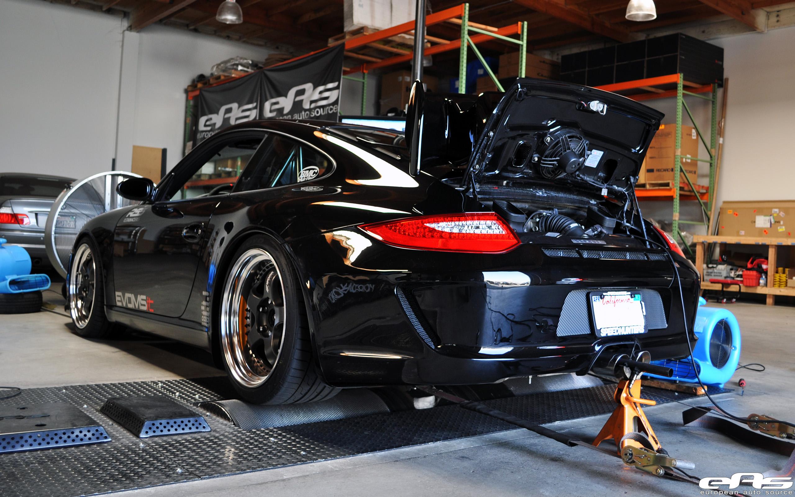 Jet Black Porsche 997 On The Dyno Bmw Performance Parts