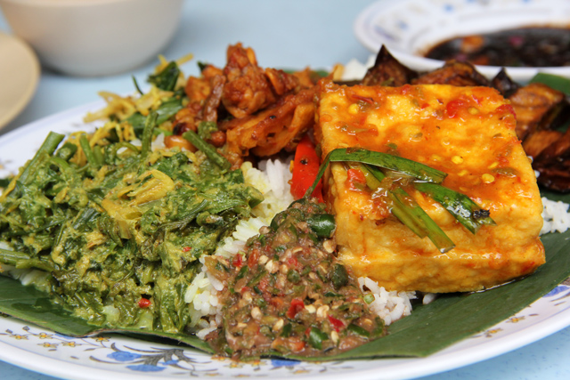 Delicious Plate of Nasi Campur